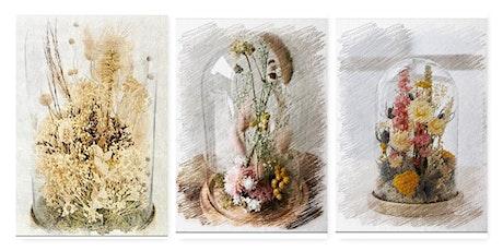 Glass cloche flower garden (Dried/Preserved)  work tickets