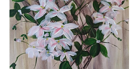 Fun Painting with Acrylics ONLINE, live and friendly - Clematis tickets