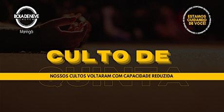 CULTO DE QUINTA (28/01) 20h00 ingressos