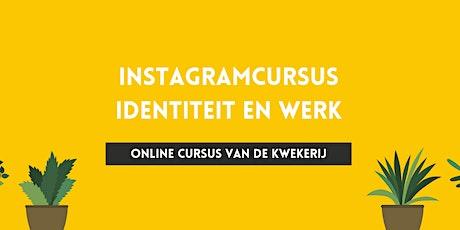 Instagram-cursus Identiteit en Werk tickets
