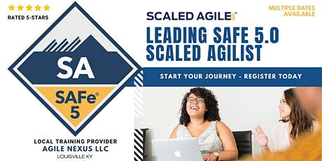 Leading Scaled Agile (Certified SAFe® Agilist) in Kentucky tickets