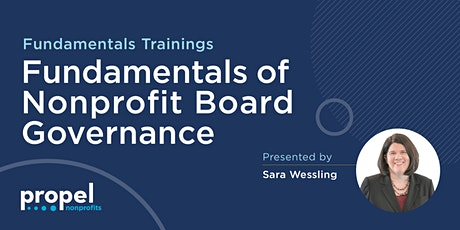 Fundamentals of Nonprofit Board Governance tickets
