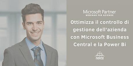 Ottimizza il controllo di gestione aziendale con Microsoft Business Central biglietti