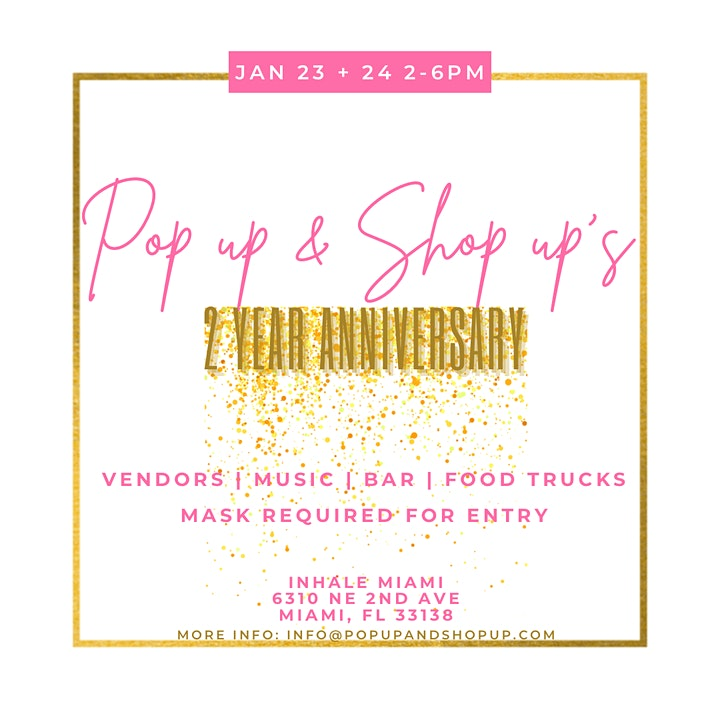 Pop up & Shop up's 2 year Anniversary image