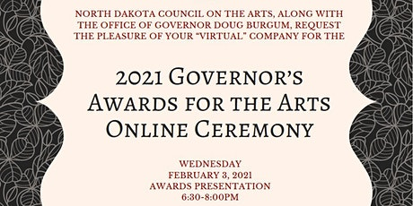 2021 Governor's Awards for the Arts Ceremony tickets
