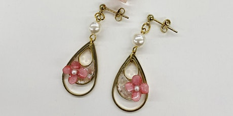 UV Resin Pink Jewelry Set- Hilo tickets