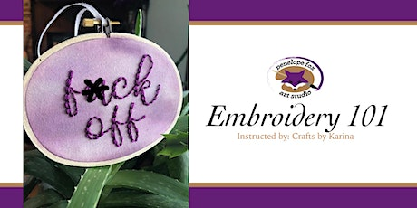 Embroidery 101: Cursive Cursing Class tickets