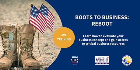 Boots to Business:Reboot tickets