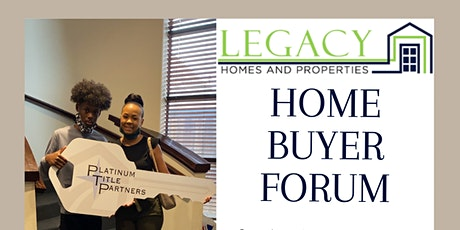 Legacy Homes & Properties, LLC Home Buyer Workshop tickets