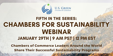 "5th ""Chambers for Sustainability"" Webinar tickets"
