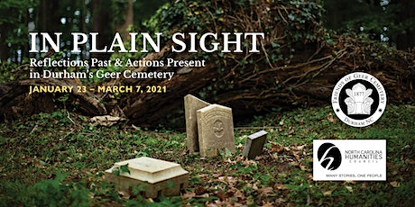 Virtual opening of In Plain Sight via Zoom/Facebook tickets
