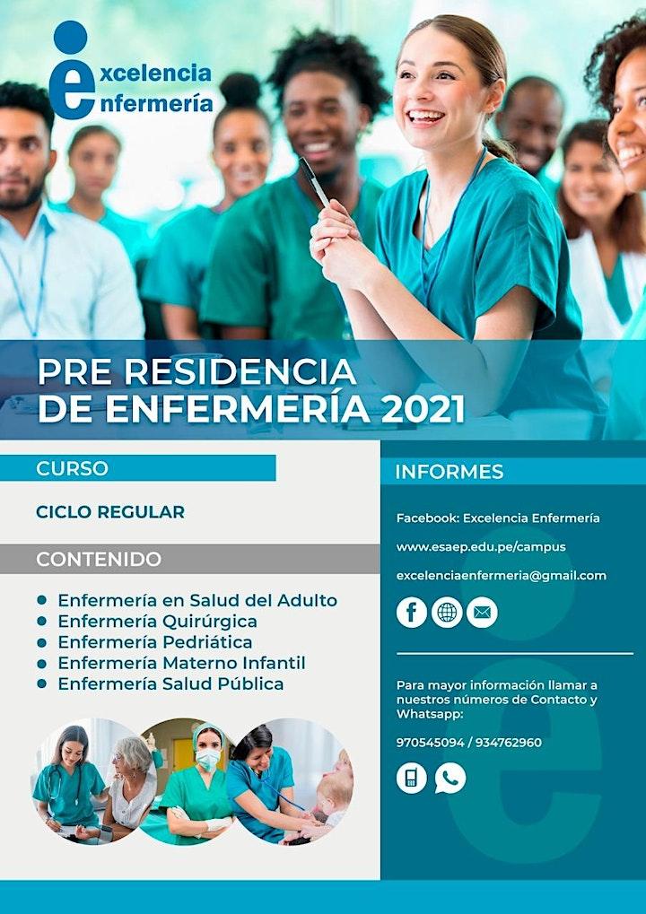 Imagen de PRE RESIDENCIA 2021: CICLO REGULAR