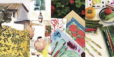 'Travel Sketching: Mediterranean' Watercolour Workshop tickets