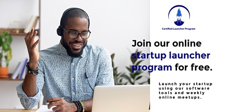 Join our online startup launcher program for free. ingressos