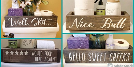 Bushel and Peck Presents: 2-Sided Potty Mouth Wood Organizer tickets