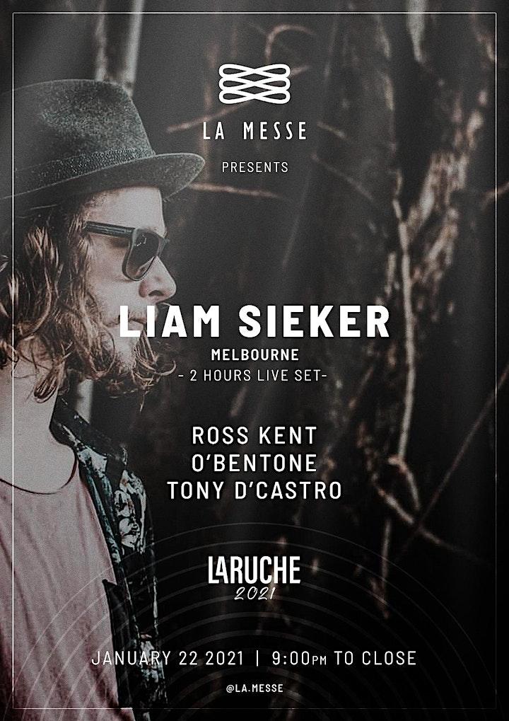 LA MESSE pres:  LIAM SIEKER (LiveSet) / 22.01.21/LARUCHE CLUB/ Brisbane image