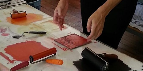 Introduction to Colour  Lino printing. tickets