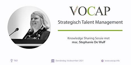 VOCAP Themareeks Strategisch talent Management | Deel 4: Knowledge Sharing tickets