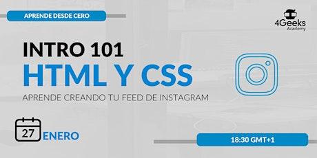 Intro 101 a HTML y CSS boletos