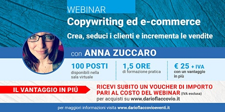 WEBINAR : Copywriting ed e-commerce biglietti