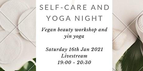 Vegan Self Care and Yoga Night tickets