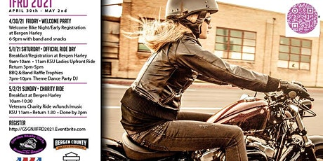 INTERNATIONAL FEMALE RIDE DAY!   East Coast Rally April 30-May 2,  2021 tickets