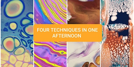 Fluid Art Experience - 'SUPER IN-DEPTH CLASS' - LEARN FOUR TECHNIQUES tickets