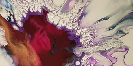 Fluid Art Experience - DUTCH POUR (Paint and Sip) tickets