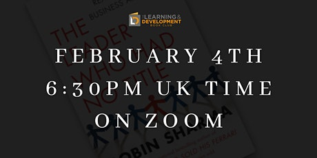 """Book Club virtual meet up - """"The Leader Who Had No Title"""" by Robin Sharma tickets"""
