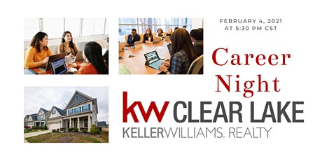 February 2021 Career Night at Keller Williams Clear Lake tickets