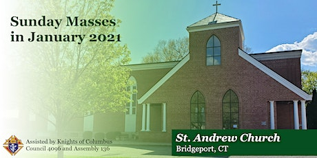 Sunday Masses for January 2021 tickets