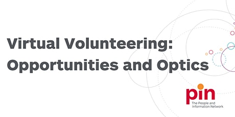 Virtual Volunteering: Opportunities and Optics tickets