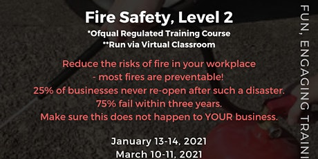 QA Level 2 Award in Fire Safety (RQF) tickets