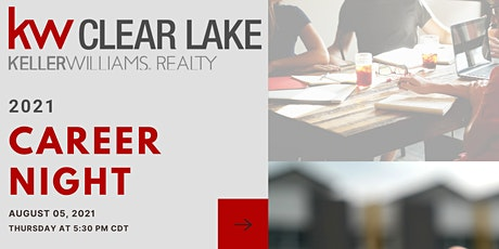August 2021 Career Night at Keller Williams Clear Lake tickets