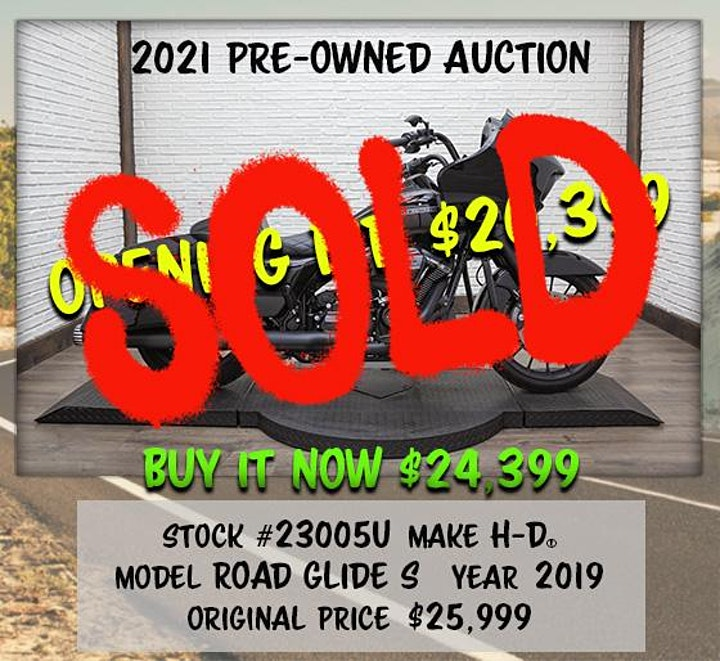 2021 H-D Glendale Annual Pre-Owned Motorcycle Auction image