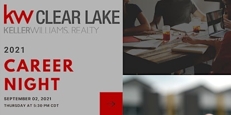 September 2021 Career Night at Keller Williams Clear Lake tickets