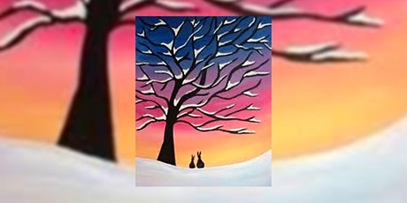 Bunnies in the Snow – Virtual Paint Night tickets