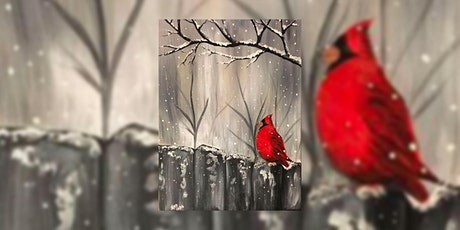 Cardinal on the Grey Fence – Virtual Paint Night tickets