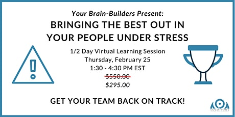 Bringing the Best Out in Your People Under Stress tickets