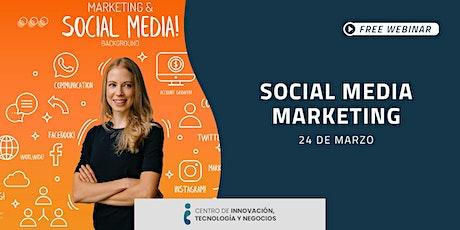 Webinar: Social media marketing entradas