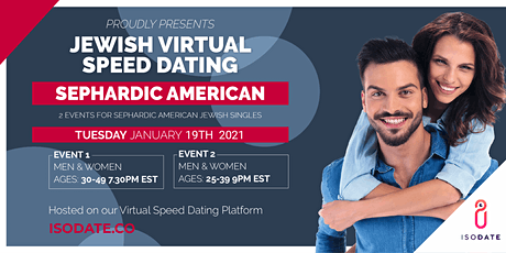 Isodate's Sephardic American Jewish Virtual Speed Dating tickets