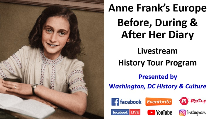 Anne Frank's Europe: Before, During & After Her Diary - Livestream  Tour image