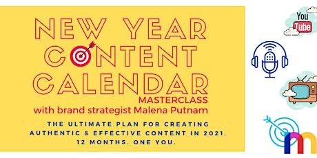 New Year Content Calendar Masterclass tickets
