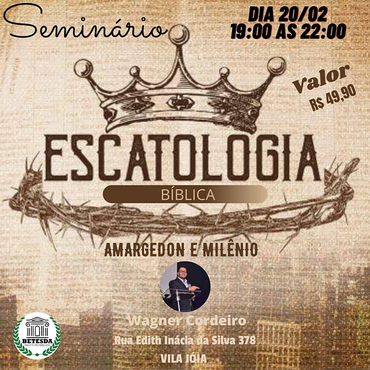 Imagem do evento Seminario Escatologia Biblica