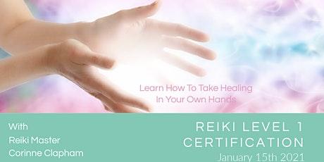 Reiki Level 1 Certification tickets