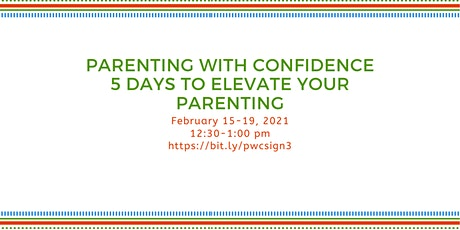 Parenting With Confidence-5 Days to Elevate Your Parenting tickets