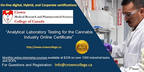 Analytical Laboratory Testing for the Cannabis Industry Online Certificate tickets