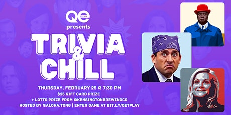 QE Trivia 046: TV Trivia & Chill (Pop Culture Virtual Pub Quiz) tickets