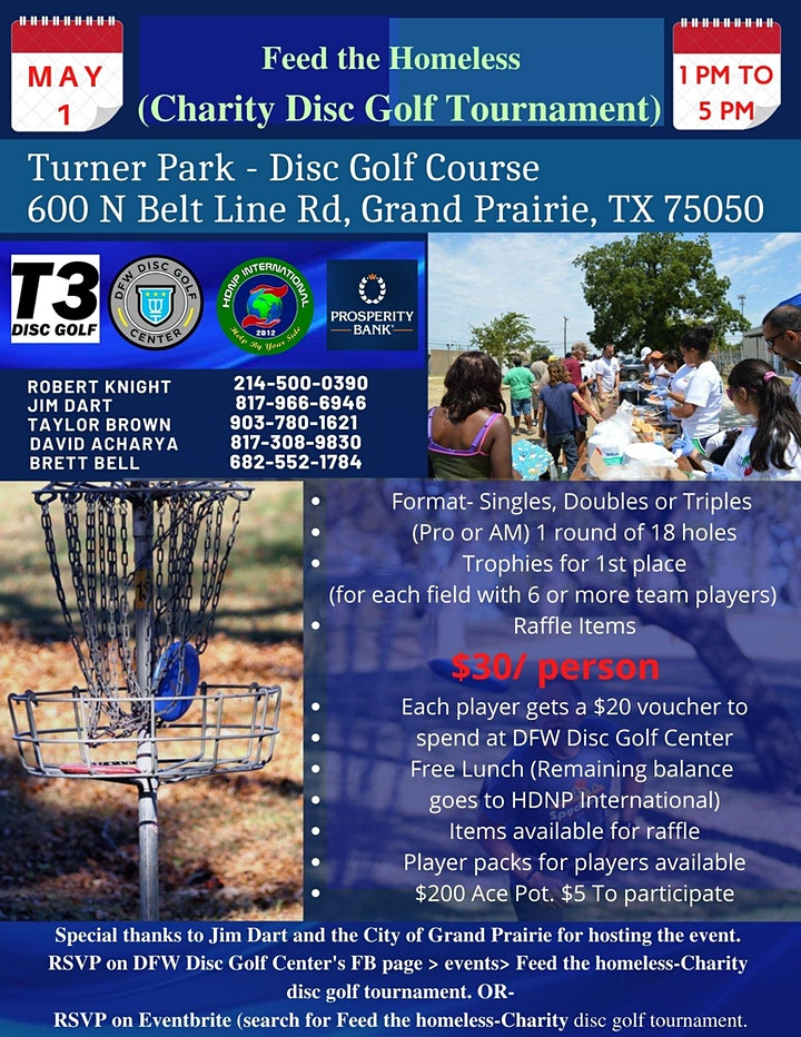Feed the Hungry- Charity Disc Golf Tournament image