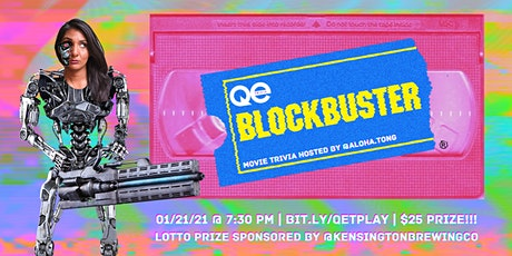 QE Trivia 040: Blockbuster Movie Trivia (Pop Culture Virtual Pub Quiz) tickets